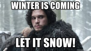 winter is coming captions for instagram posts